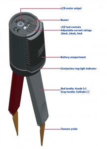 LED Test Tweezer features diagram