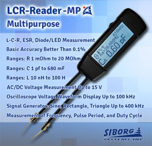 LCR-Reader-MP Multipurpose LCR/ESR-meter